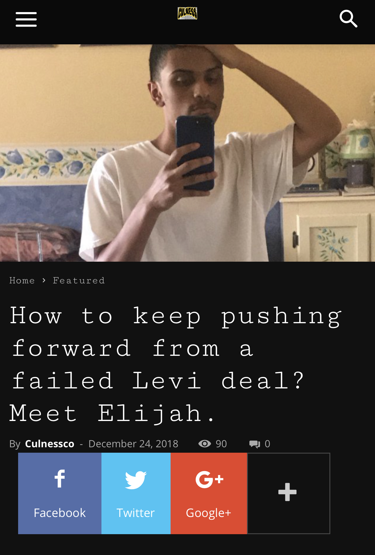 Culness Interview - How to Keep pushing forward from a failed Levi deal? Meet Elijah.