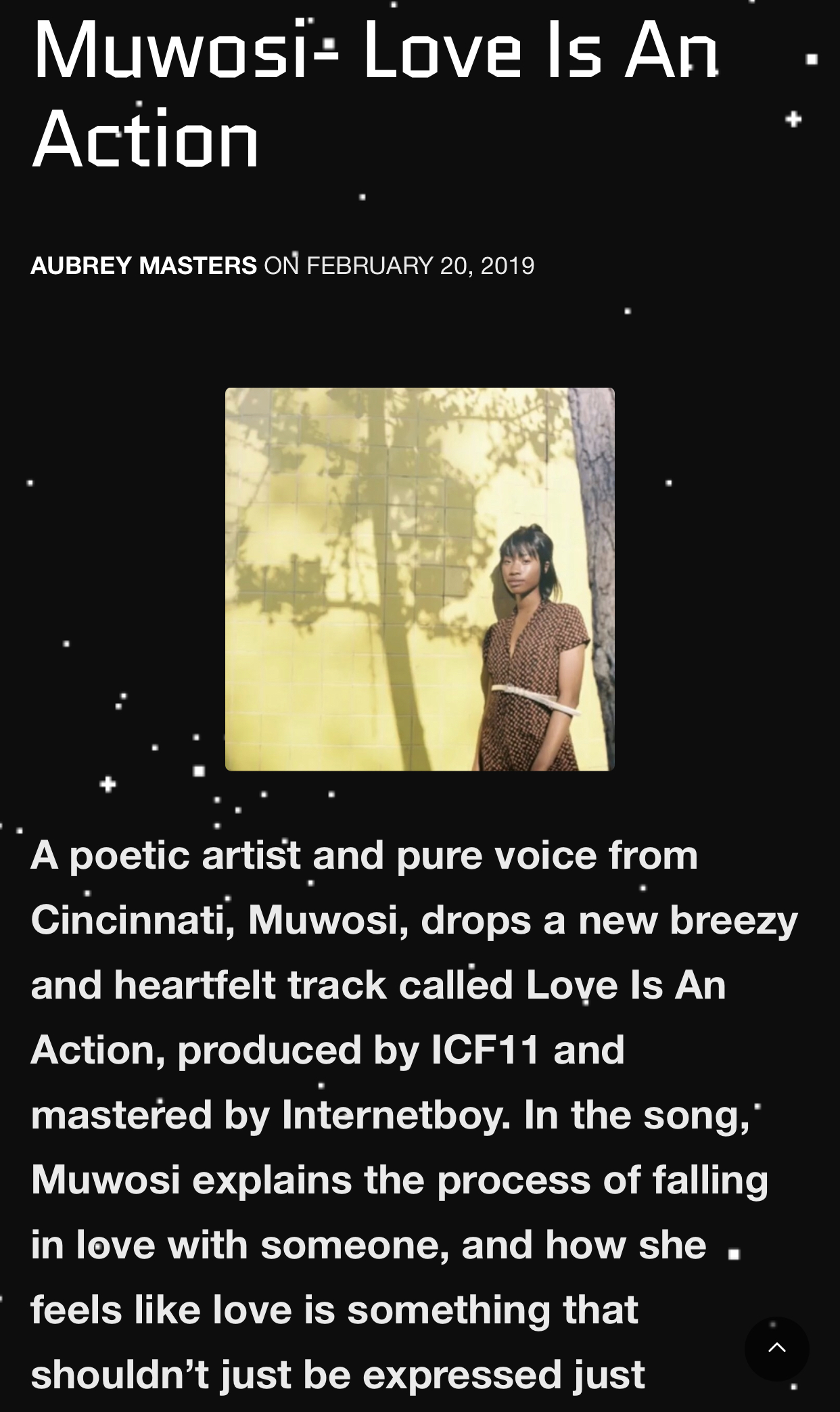 Soul Serum - Muwosi's Love Is An Action (Prod. ICF11) was featured on Soul Serum written by Aubrey Masters.