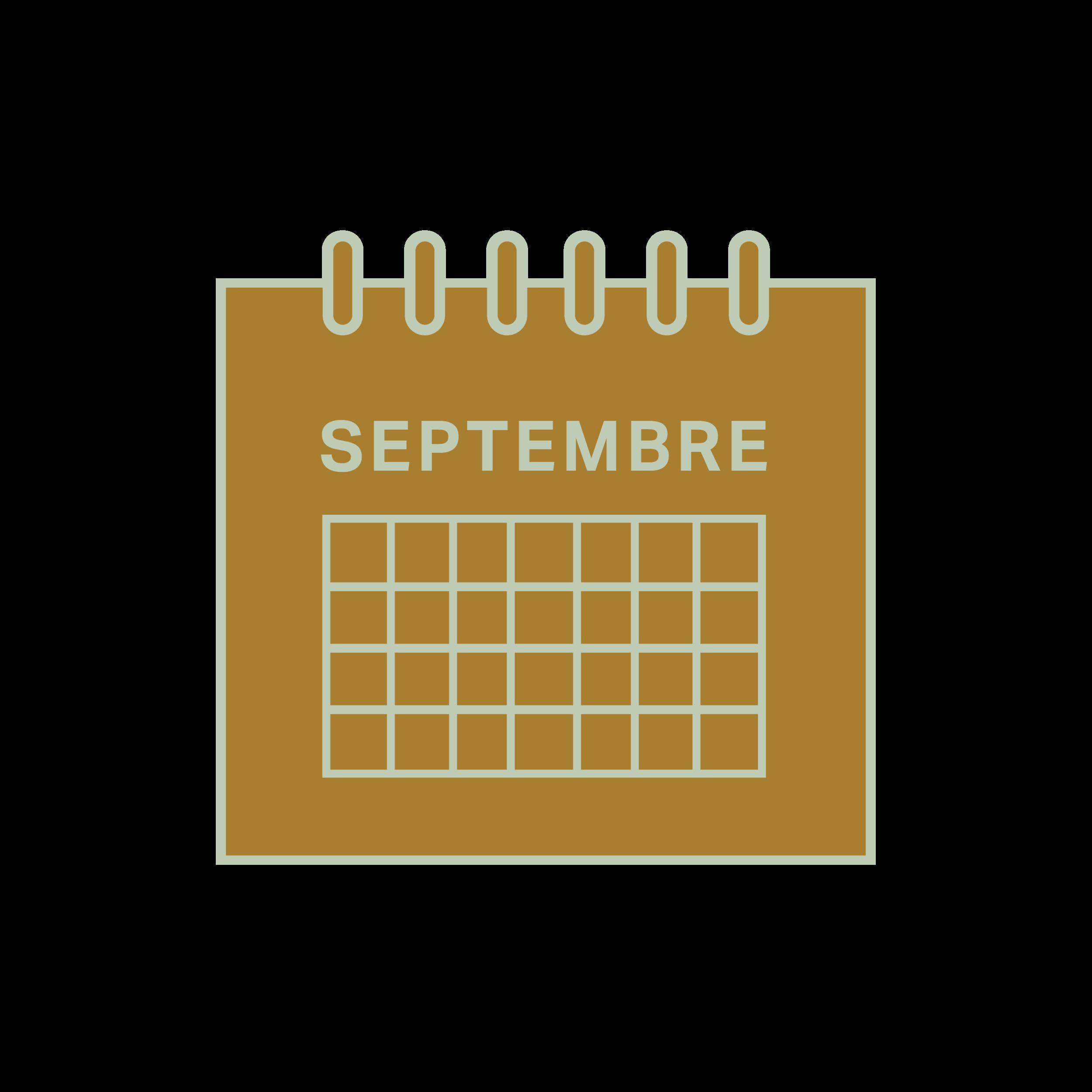 3.   Être disponible aux dates suivantes : 9, 10, 16 et 17 septembre.