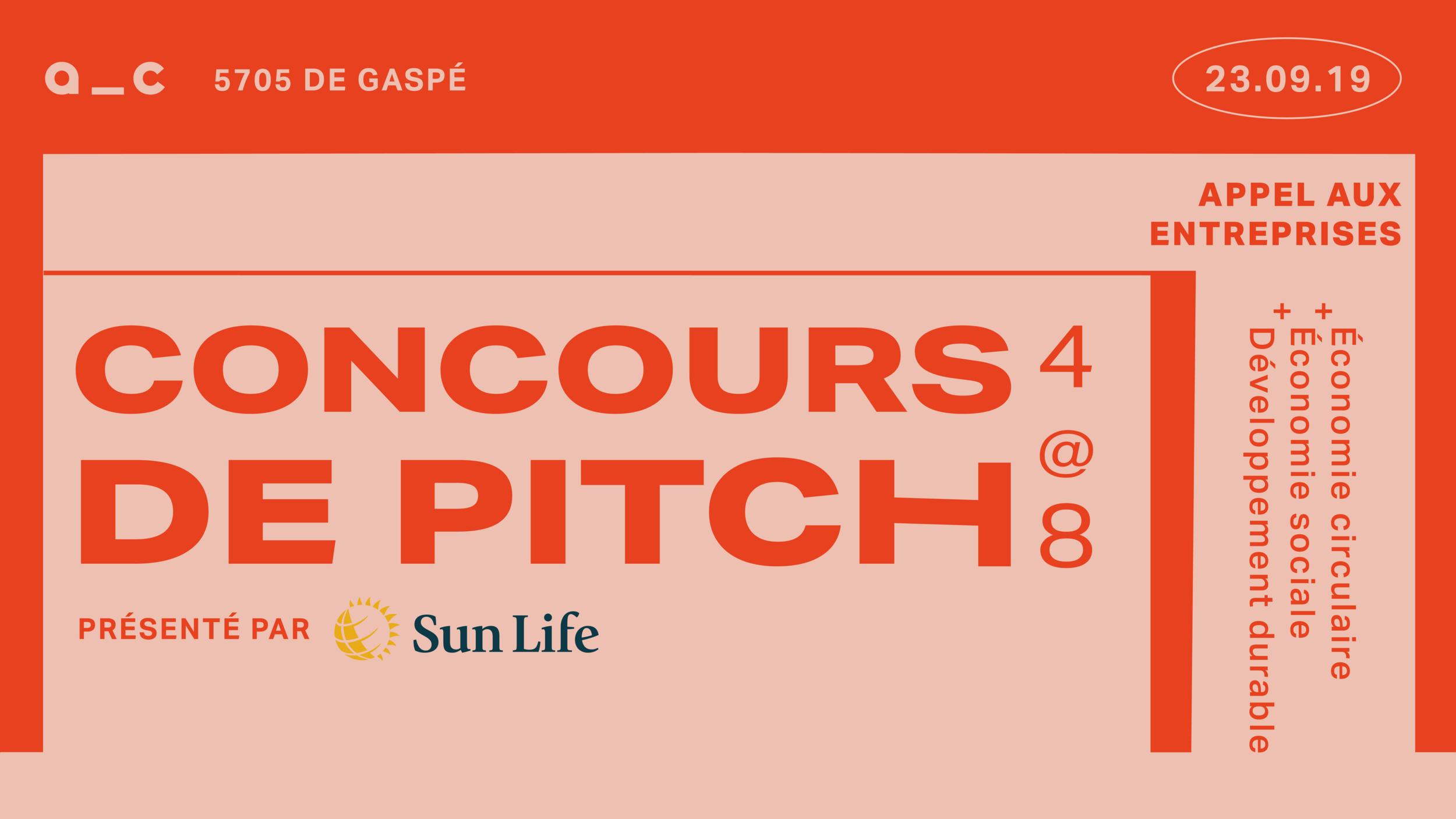 Découvrez aussi - Le concours de pitch présenté par SunLife, à Aire commune!- Économie circulaire- Économie sociale- Développement durable