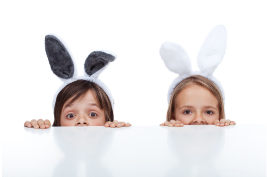 Keep things simple while planning your Easter party: purchase bunny ears, or have kids make their own!