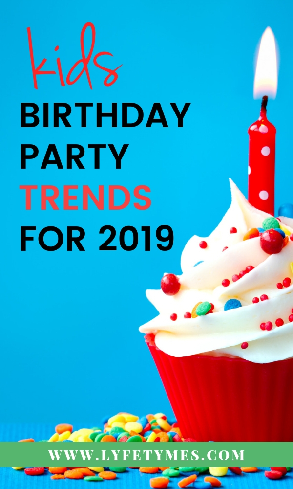 The BEST Kids' Birthday Party Trends from LYFETYMES party planning blog.