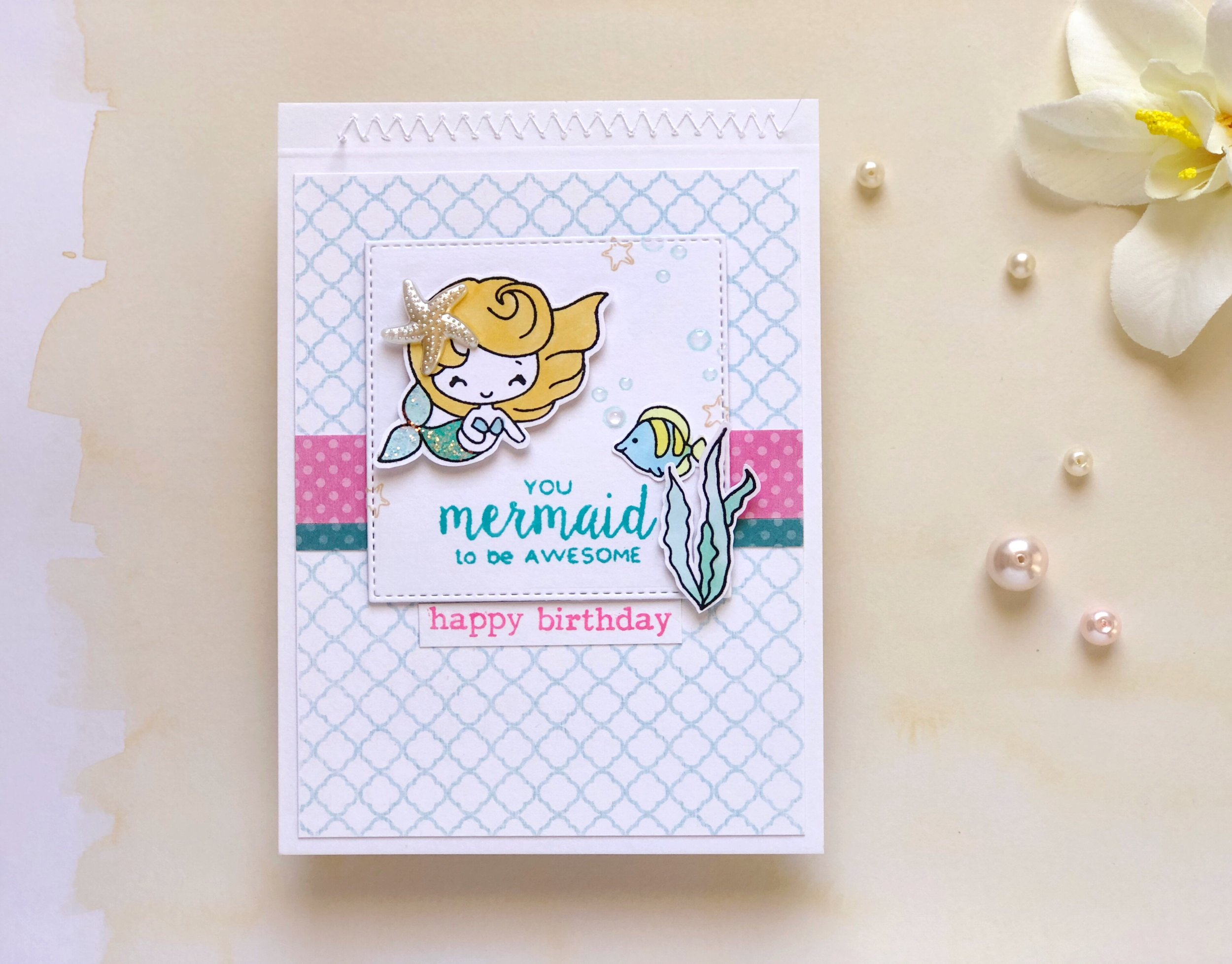 You MERMAID to be awesome—what a cute birthday party invitation. LYFETYMES has an awesome mermaid party theme post up on the blog today.