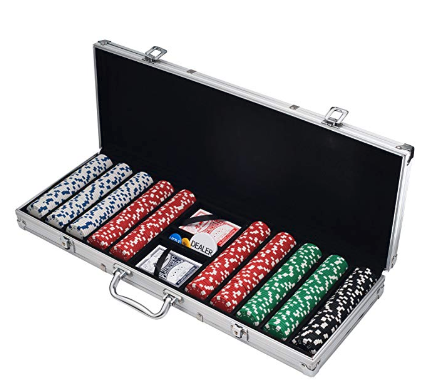 This poker chip set may not be a unique father's day gift idea, but it is a welcome one. Perfect for poker night or family game night, every dad should have a poker chip set. | LYFETYMES party planning blog.