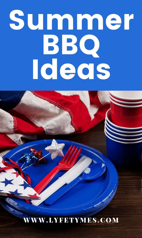 Looking for summer BBQ ideas and inspiration? From Memorial day to Labor day, we've got ideas to get you set for planning your backyard party! | LYFETYMES party planning website #summerbbq #bbqideas #memorialdaybbq #4thofjulypartyideas #summerbbqmenu #summerbbqdecorations
