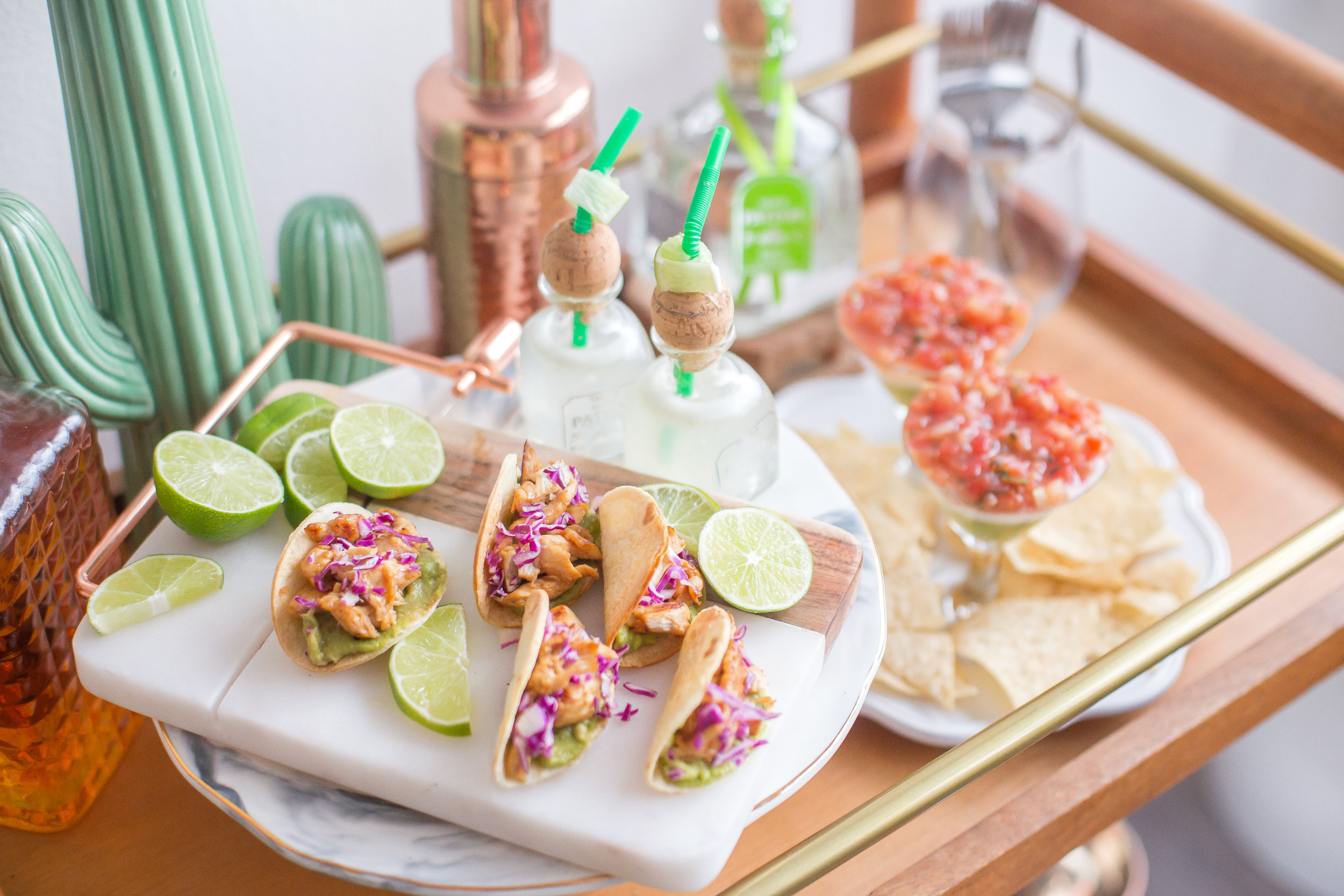 Fancy taco bars are an easy way to serve food at a baby shower—food bars are definitely trending for baby showers in 2019.