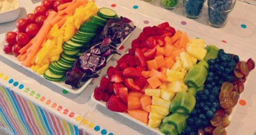 Unicorn Fruit and Veggie Tray