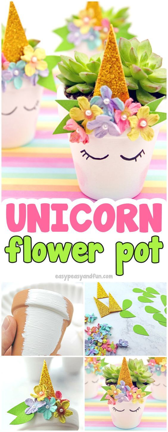Unicorn Flower Pots