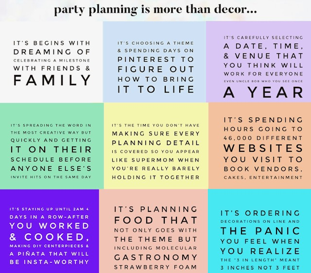 Party Planning for birthdays, baby showers and Holidays. Plan any party for free. All in one party planner. Free event planning for any party. Easy party planning tools and checklists.