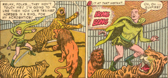 Sadly, we are denied the joy of seeing Jimmy Olsen shredded to pieces.