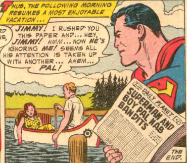 Stop him Superman, he's trying to dispose of the body!