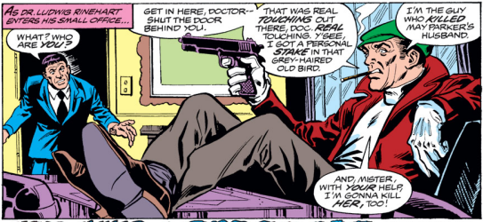 Spider-Man's most deadly foe, the dread Burglar! Uncle killing gun sold separately.