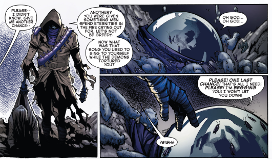 Burying Mysterio in rats and bugs is too good for him but you can't have someone drown in a sea of shit in a comic meant for kids.