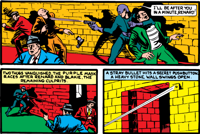 This is the first time in comic book history where wild gunfire advances the plot.
