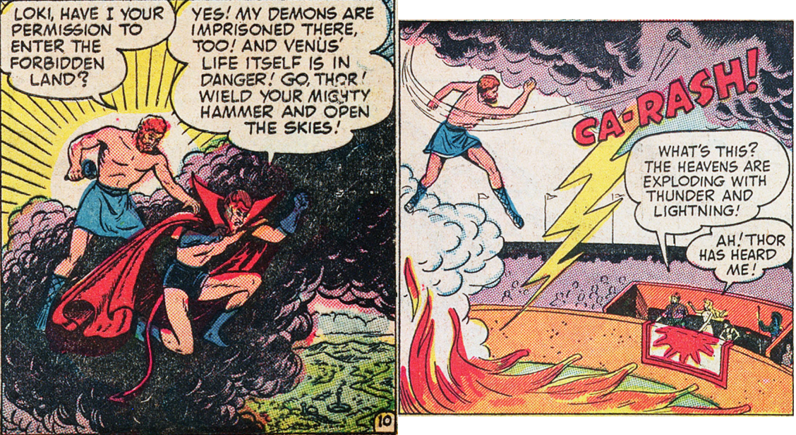 Thor is always best known for asking permission before stopping his foes.