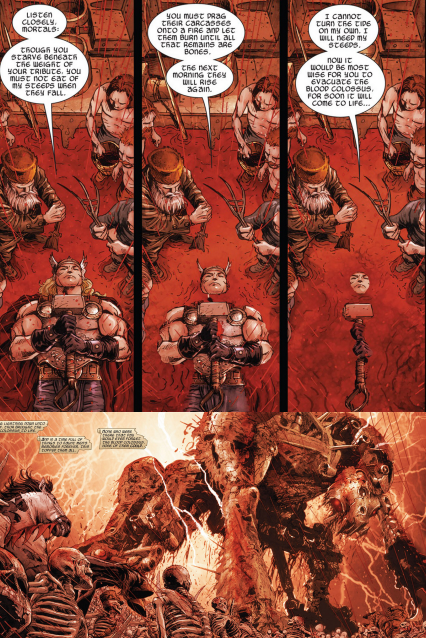 The most metal thing Thor has ever done in the comics TBH.