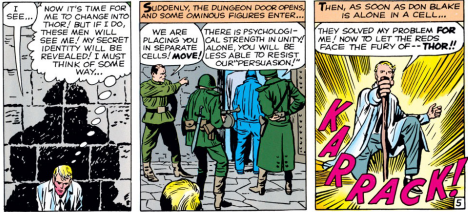 He really can't resist shouting out his secret identity can he?