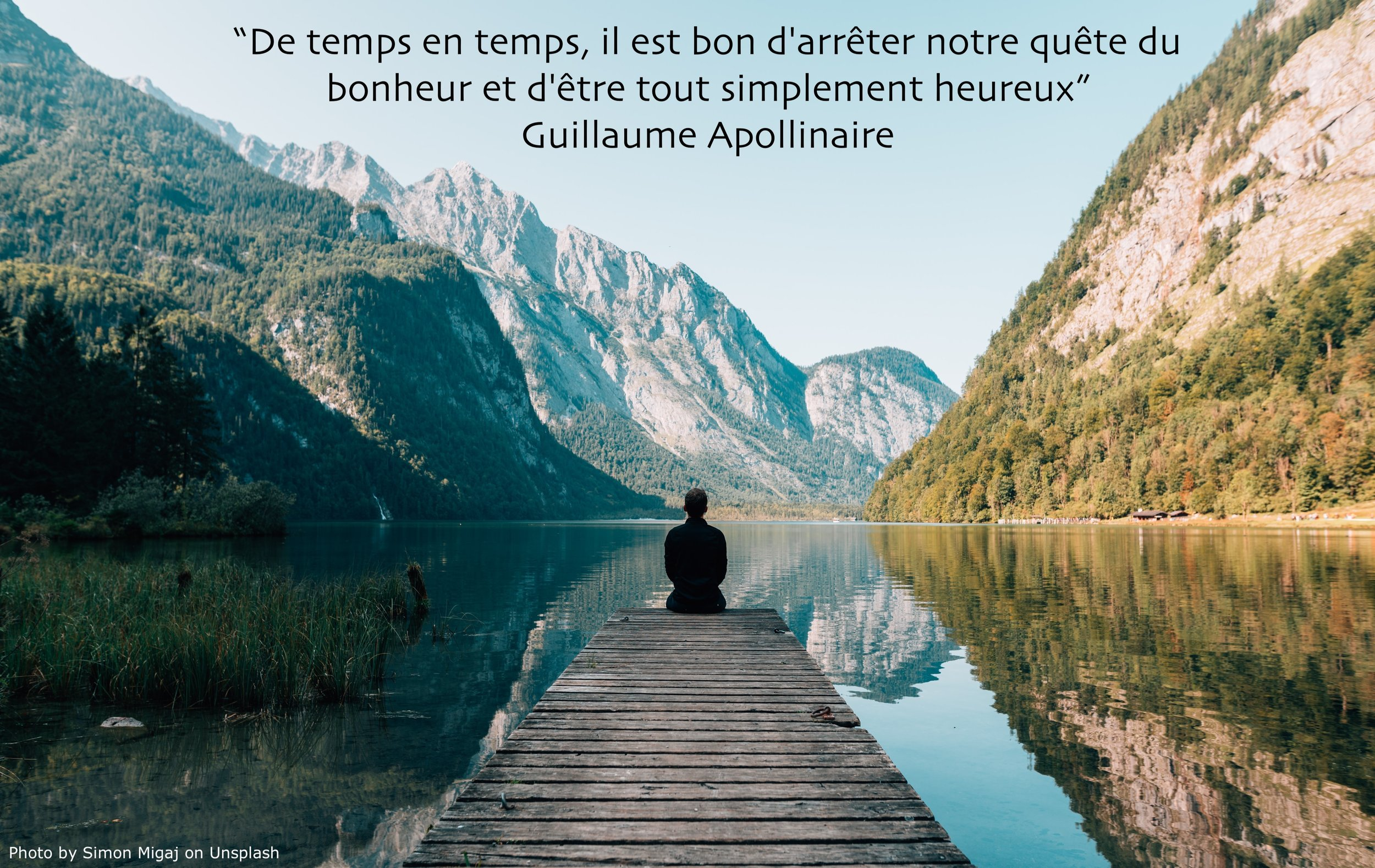 """""""Now and then, it's good to pause in your pursuit of happiness and just be happy … """" Guillaume Apollinaire"""
