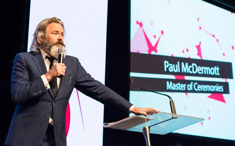 Paul McDermott - MC at the 2017 EISSI Awards night