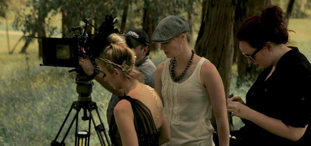 'Myth' TVC.  Directed by Amy Dwight (pictured with the cap).