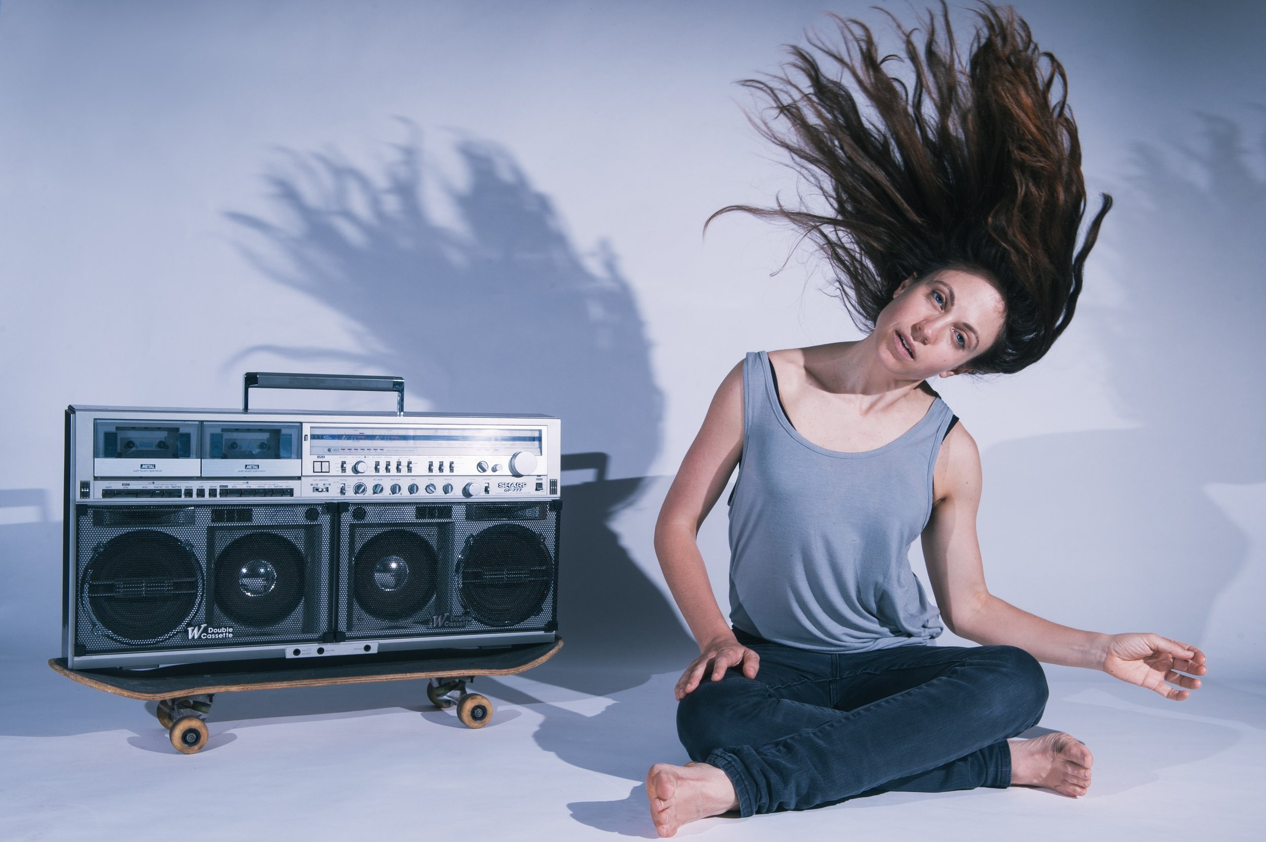 Piece for Person and Ghetto Blaster by Nicola Gunn.