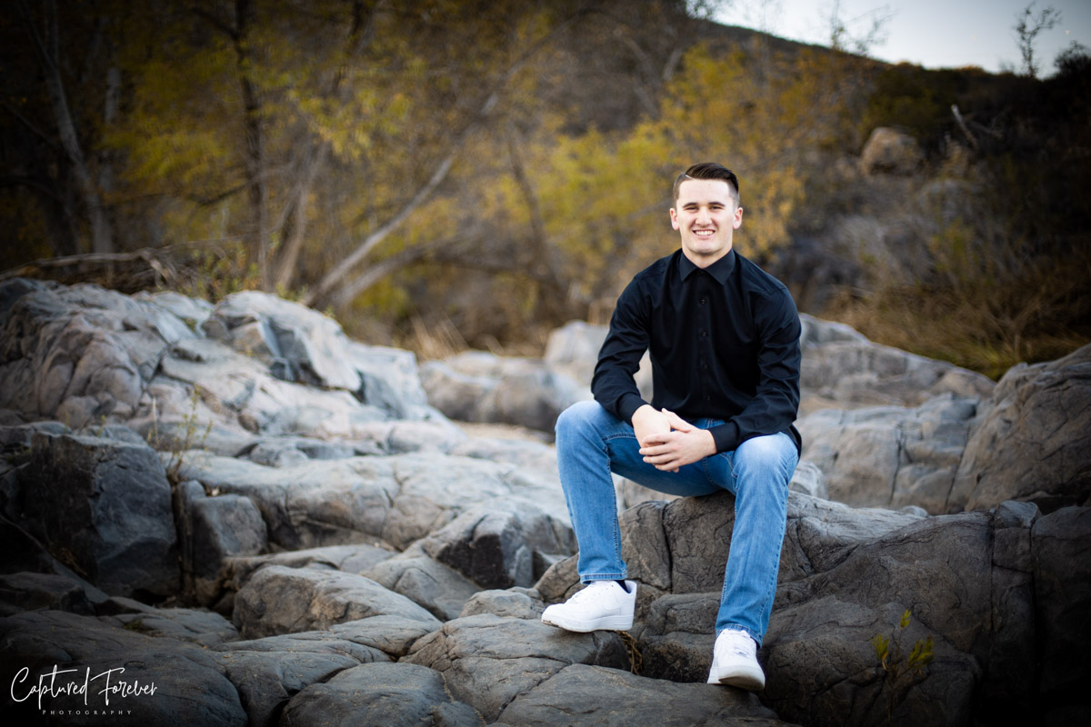 senior photos at mission trails by orange county photographer