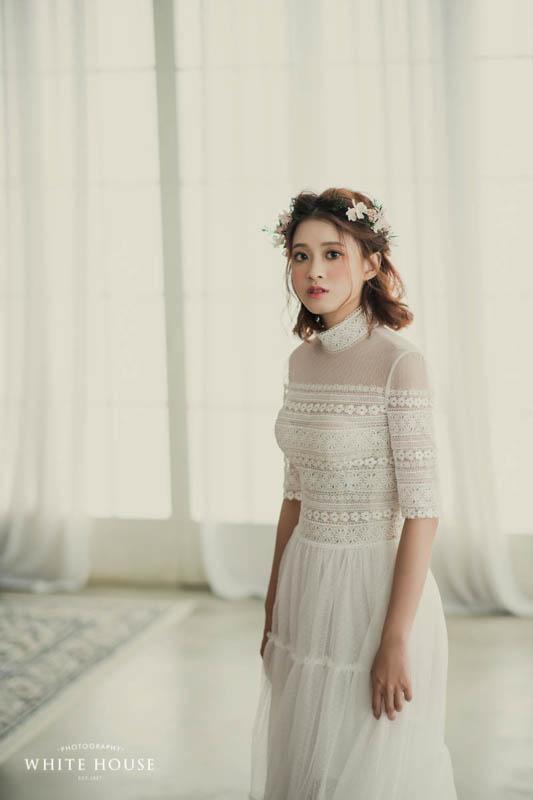 五分袖波希米亞婚紗,是今年非常熱門的拍攝首選。撞衫機率極低~