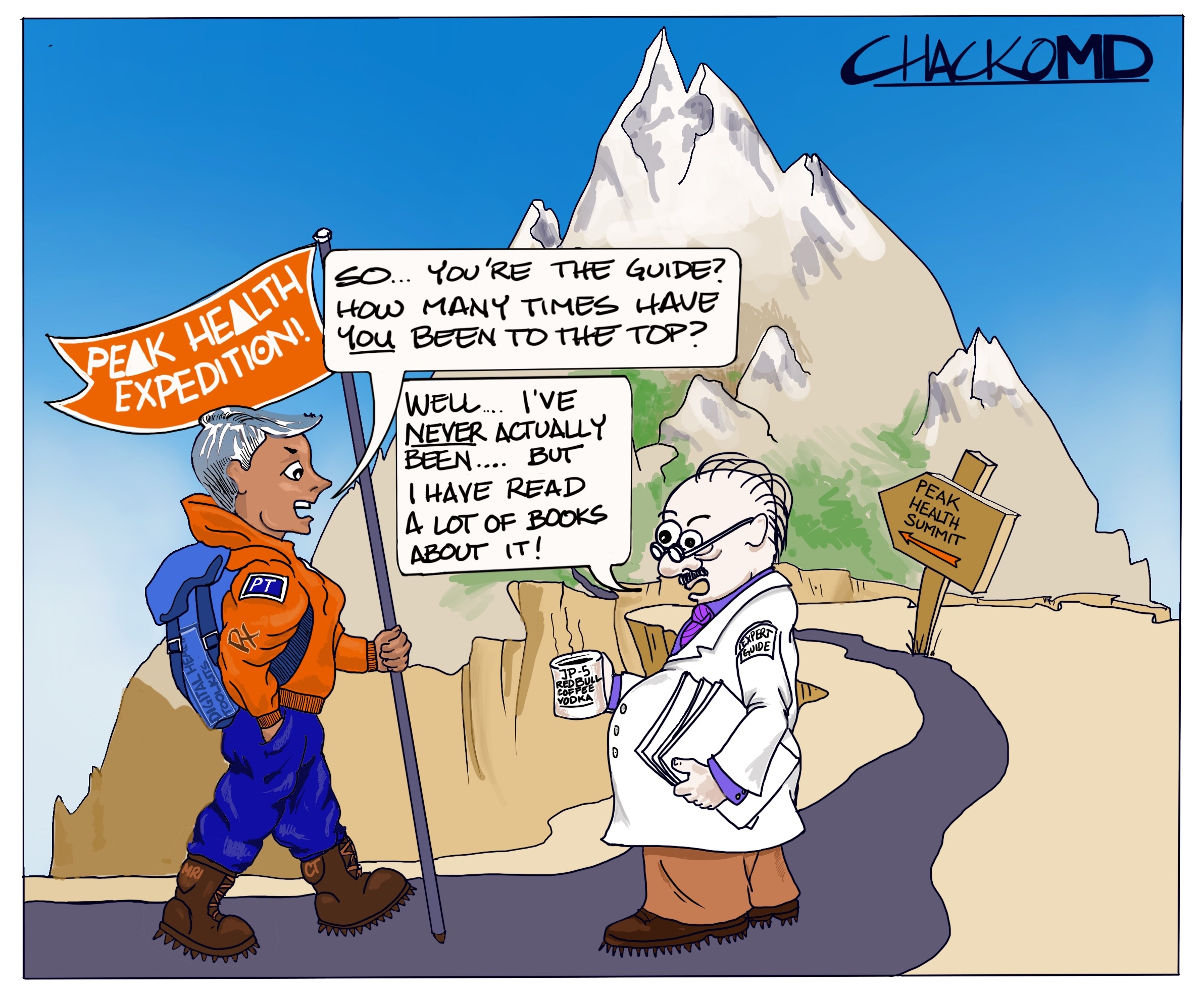 My First Cartoon. An attempt to show how skewed our philosophy is on creating our cadre of healthcare providers.  Posted 4/16.