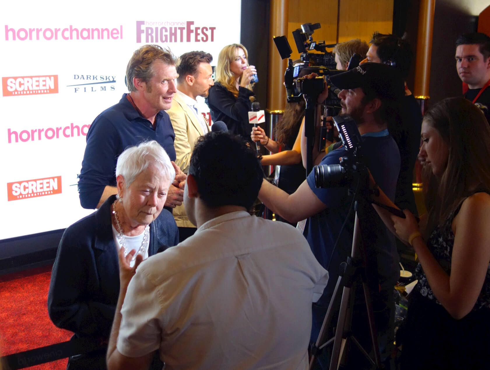 on camera - Frightfest press
