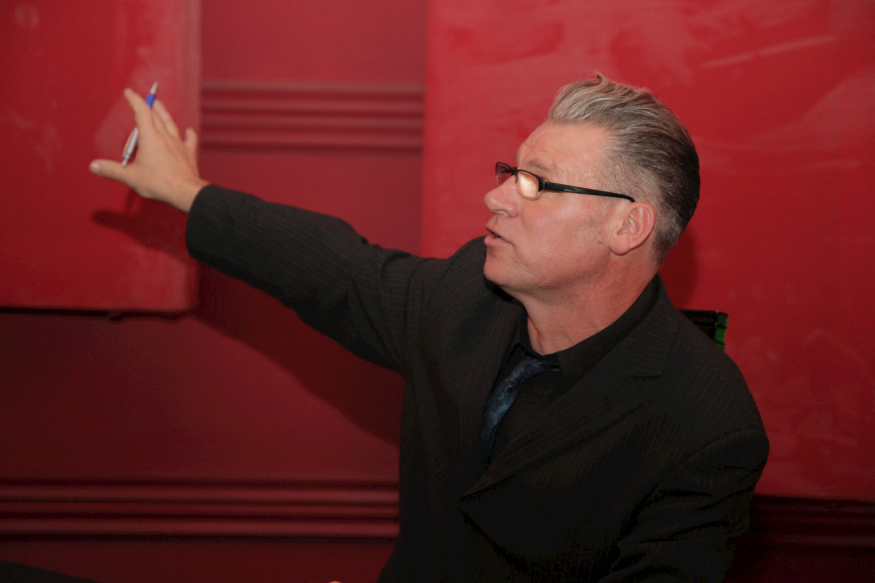 on stage - Mark Kermode