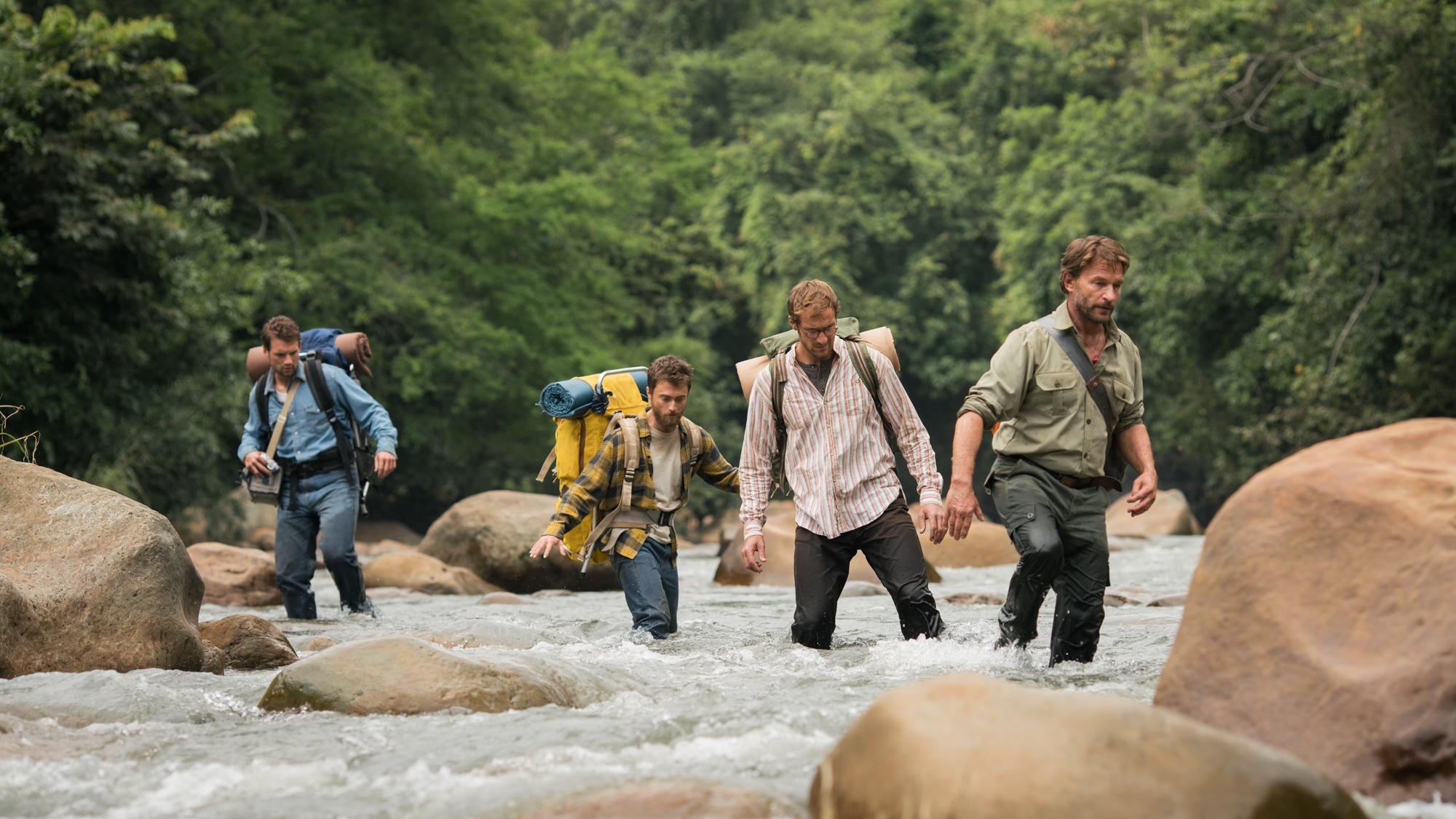 Jungle_Jungle_Alex Russell (Kevin), Daniel Radcliffe (Yossi), Joel Jackson (Marcus) & Thomas Krestchmann (Karl) 1.jpg
