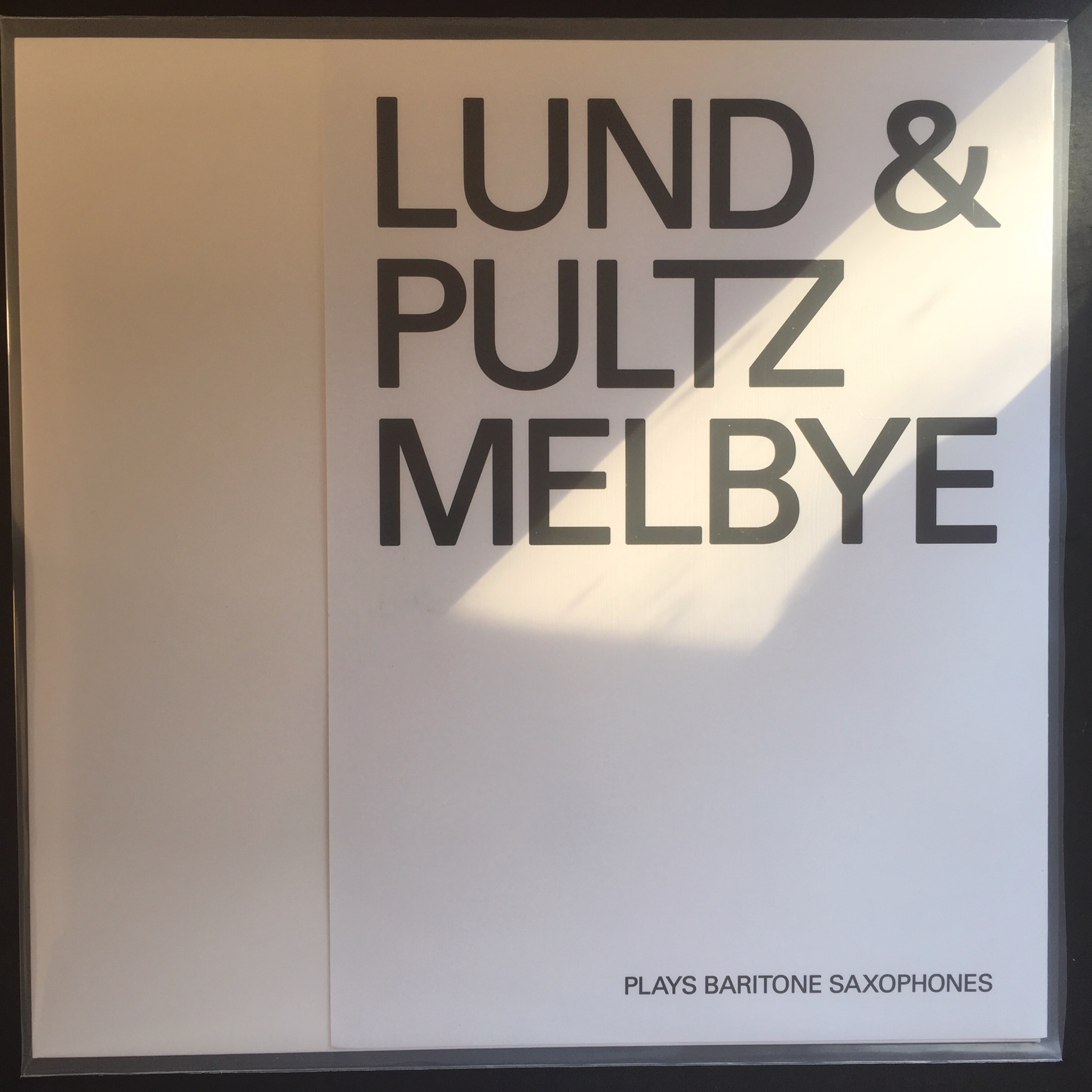 Lund / Pultz Melbye - Plays Baritone Saxophones (Svala Records / Aether Productions 2018)  Johs Lund & HPM: Baritone saxophones