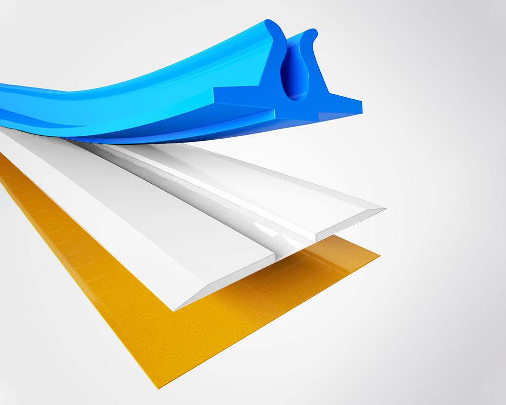 SL PVC - A PVC film based matrix. Recently improved adhesive tape to ensure no movement on press.