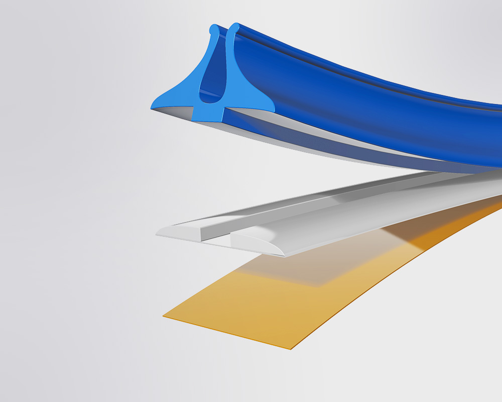 Jazz - A plastic matrix with curved profile shoulders on a micro thin polyester base.