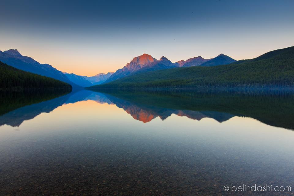 Bowman Lake, Polebridge, Glacier National Park, Montana. 8:16pm