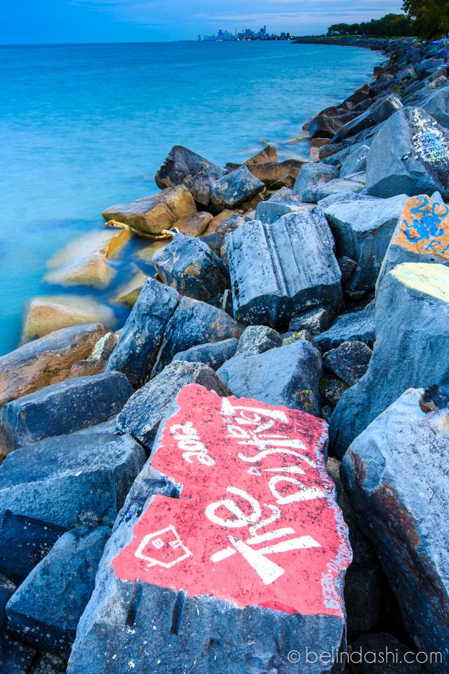 Day 57 - NU Graffiti Along Lake Michigan In Sunset-006