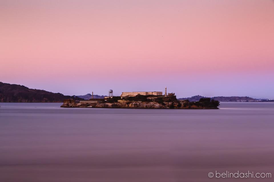 Alcatraz in sunset