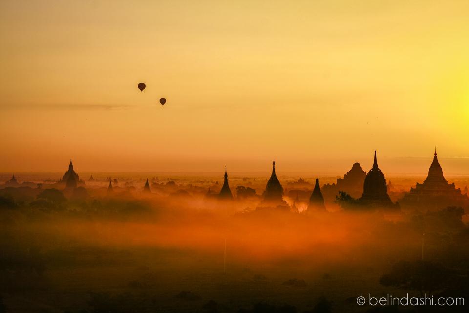 Myanmar - Bagan temple in the dawn mist