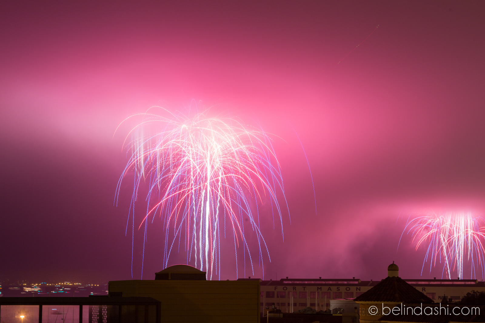 July 4th fireworks in San Francisco 2014-001, ISO200, 85mm, f/9, 6sec