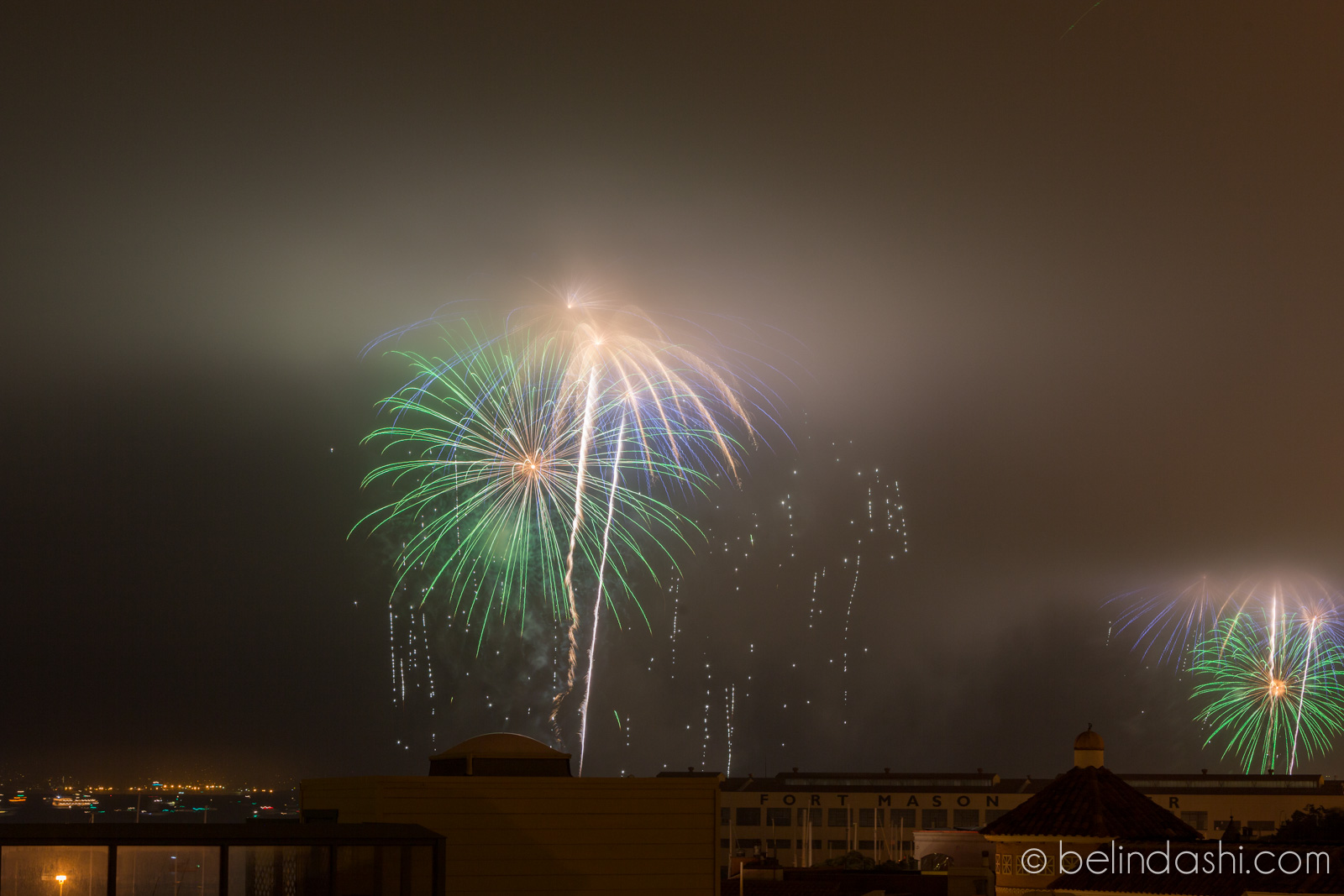 July 4th fireworks in San Francisco 2014-002, ISO100, 85mm, f/11, 15sec