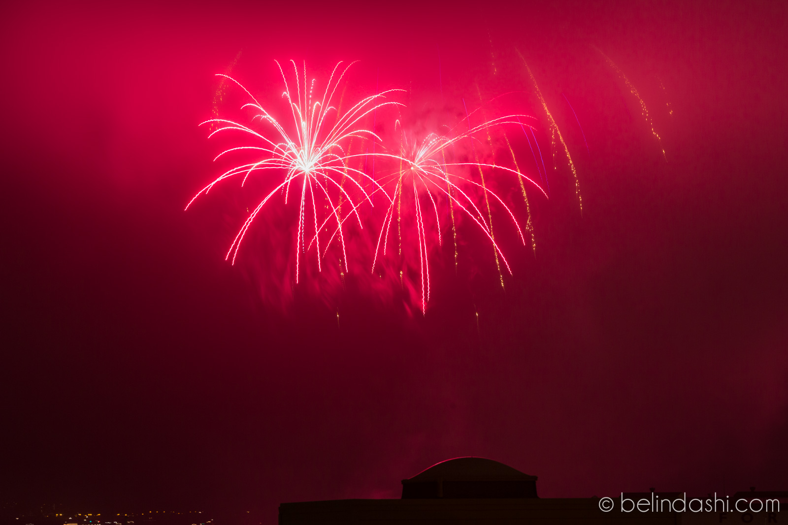 July 4th fireworks in San Francisco 2014-006, ISO200, 130mm, f/9, 3.5sec