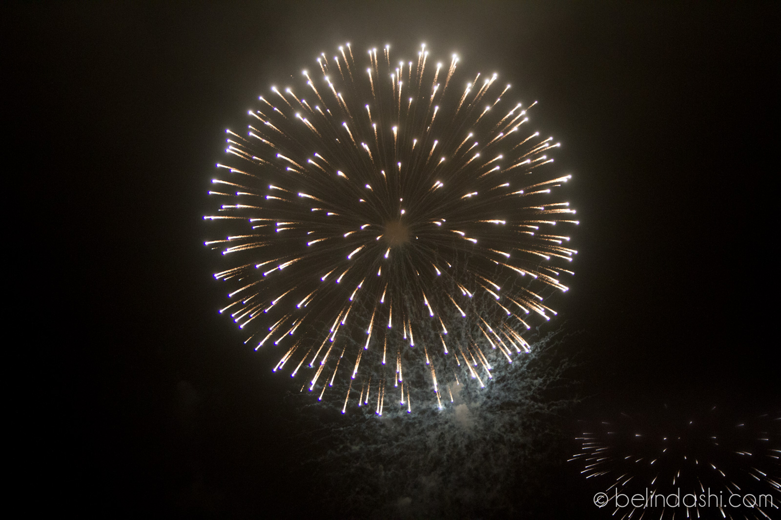 Fireworks without a Tripod, ISO2000, 90mm, f/2.8, 1/250 (photographed a few years ago without a tripod and using a non full-frame Canon 7D)