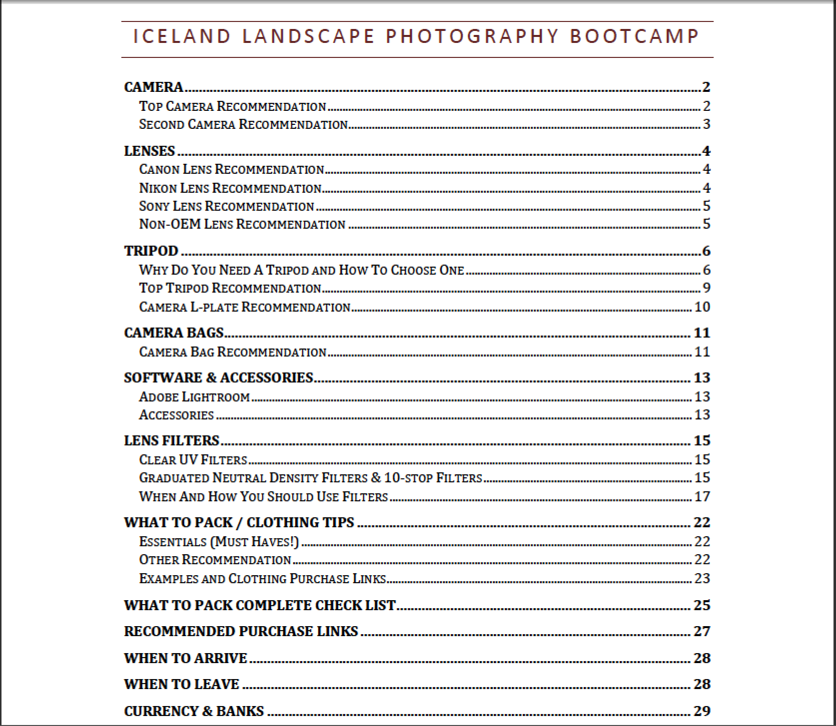 Iceland Landscape Photography Bootcamp - Free E-book