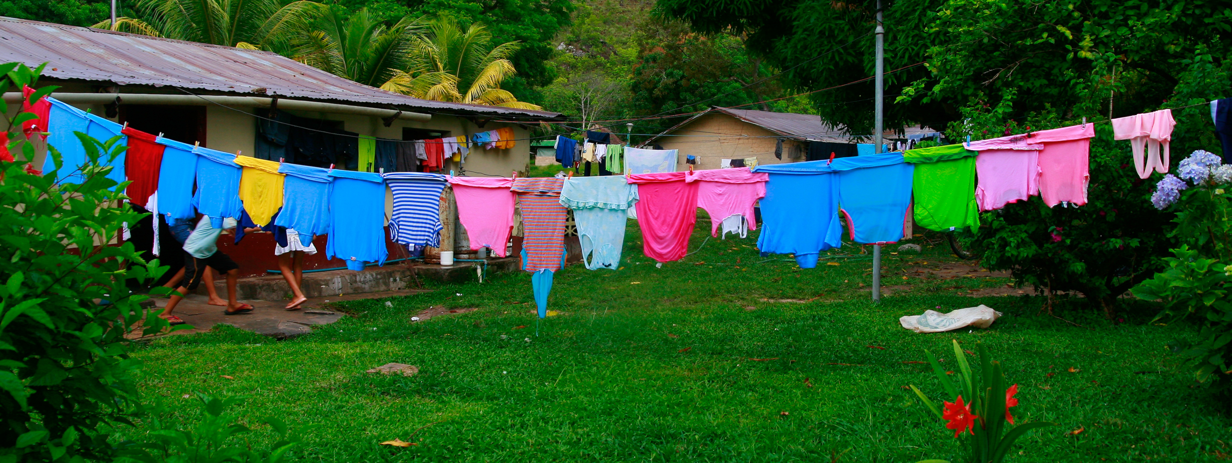 Colorful indigenous village in Canaima