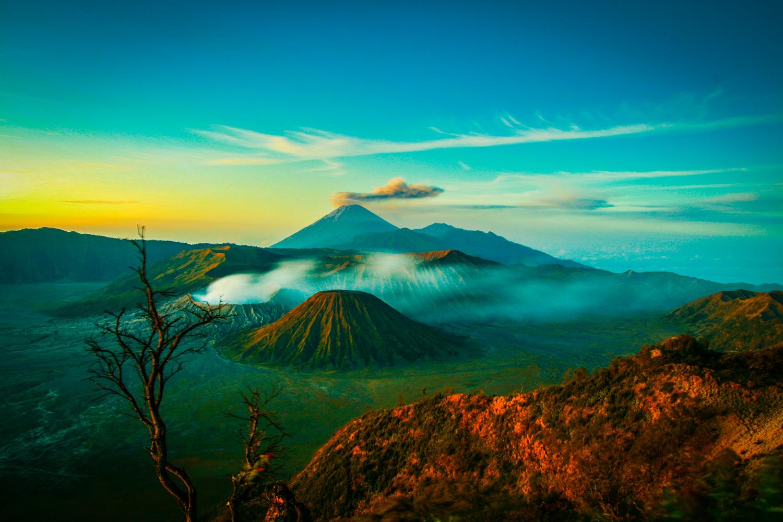 Mt Bromo in sunrise, Java, Indonesia
