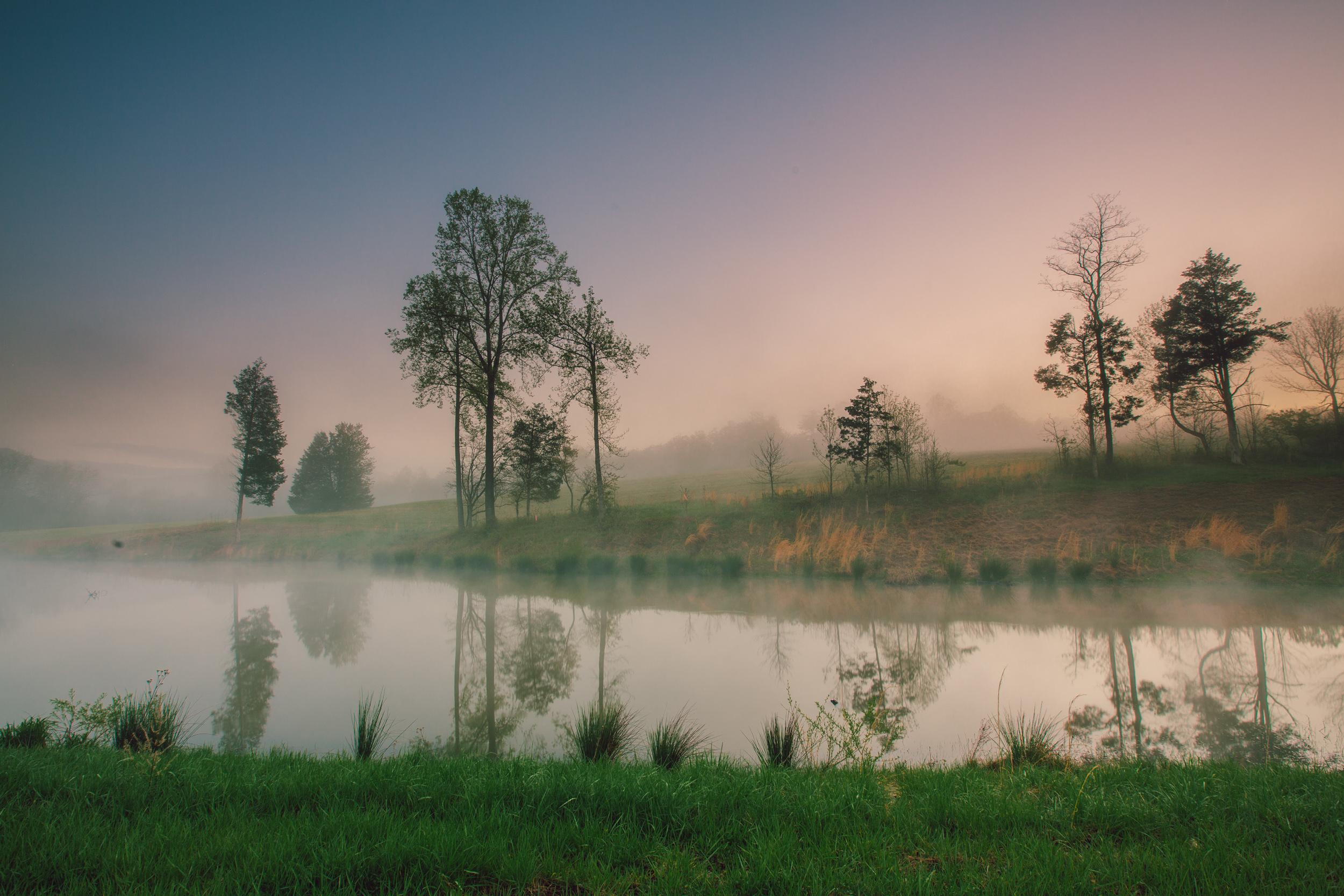 Foggy morning in Bedford, VA