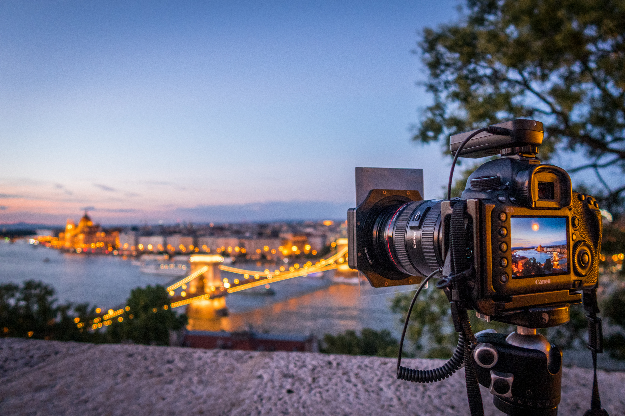 Example of my set up on Buda Castle