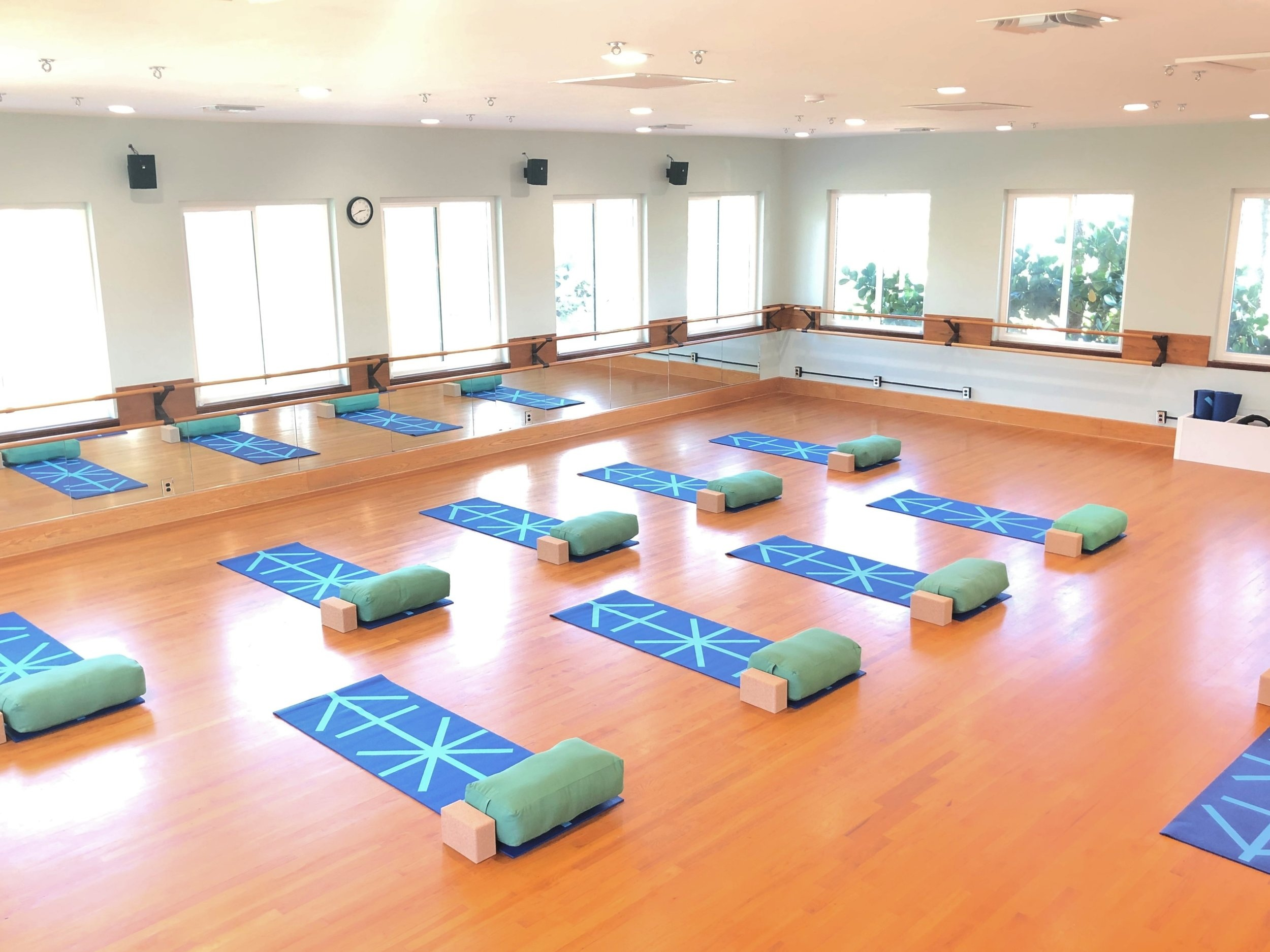 YOGA & PILATES STUDIO  Check out our monthly schedule for yoga and mat Pilates classes Let our highly trainer instructors lead a class…. No membership required! Walk-ins Welcome!