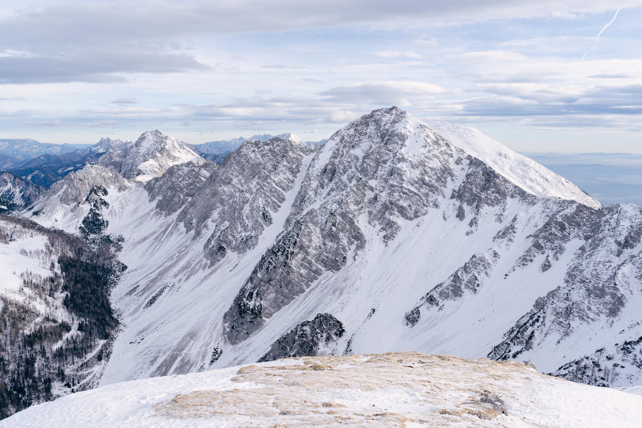 Mount Stol (2236 m), the highest peak of the Karawanks.