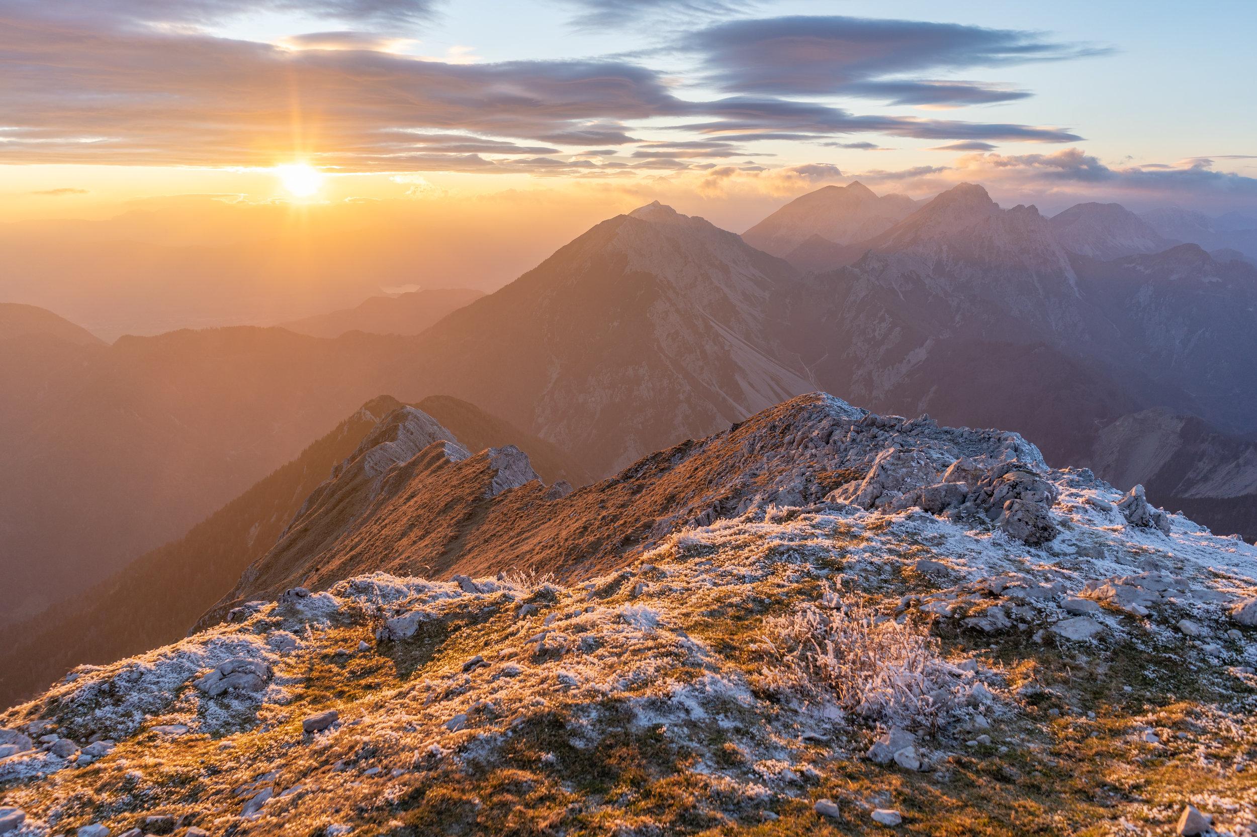 On top of Mt. Veliki vrh (2088 m).